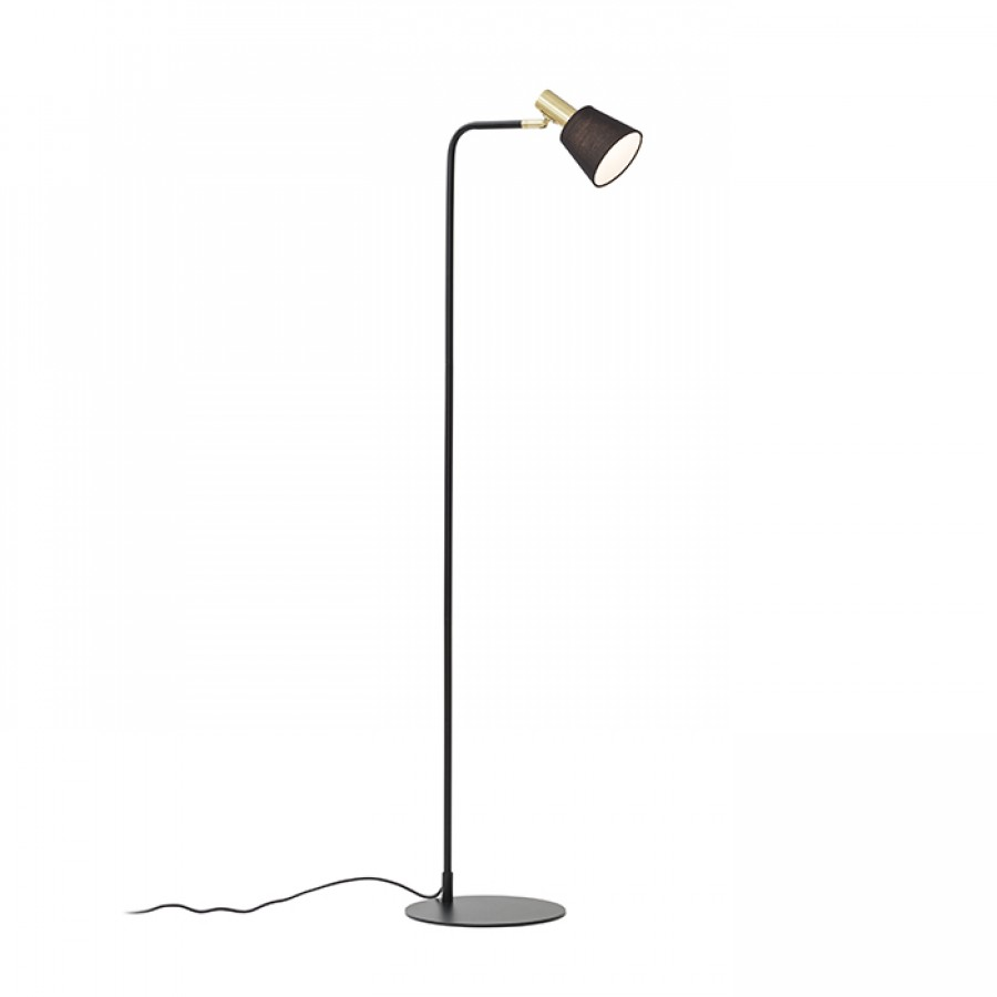 Stojanová lampa - RENDL - Icar 230V E27 15W (čierna + zlatá). Sme autorizovaný predajca Rendl. Vlastná spoľahlivá doprava až k Vám domov.