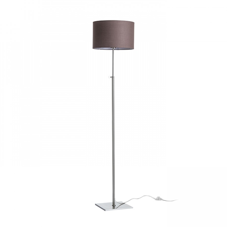 Stojanová lampa - RENDL - Edika 230V E27 42W (hnedá + matný nikel). Sme autorizovaný predajca Rendl. Vlastná spoľahlivá doprava až k Vám domov.