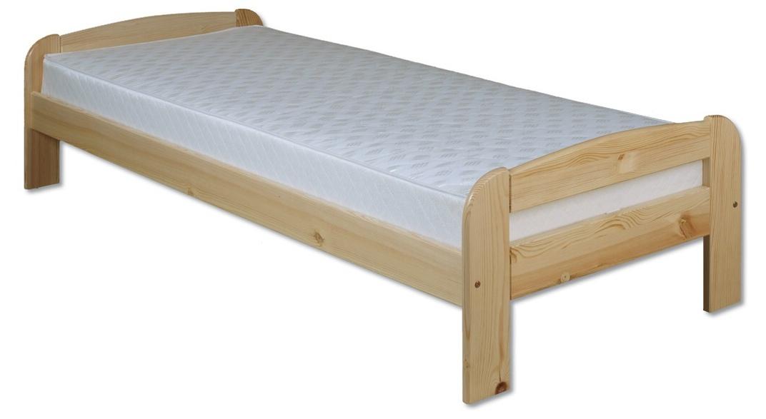 Jednolôžková posteľ 100 cm - Drewmax - LK 122 (masív). Sme autorizovaný predajca Drewmax. Vlastná spoľahlivá doprava až k Vám domov.