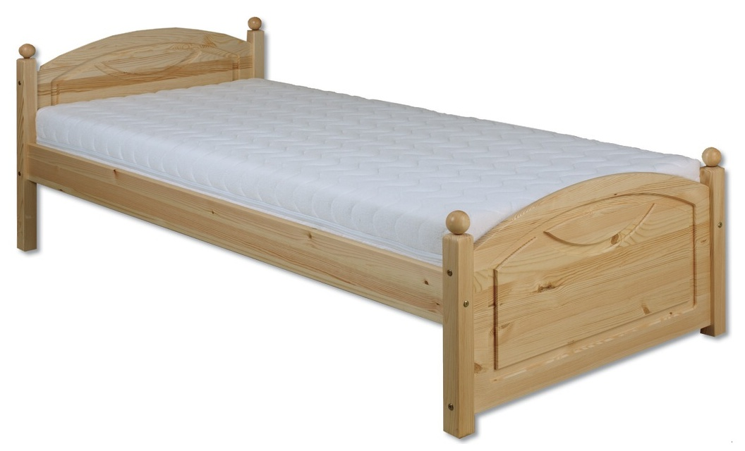 Jednolôžková posteľ 100 cm - Drewmax - LK 126 (masív). Sme autorizovaný predajca Drewmax. Vlastná spoľahlivá doprava až k Vám domov.