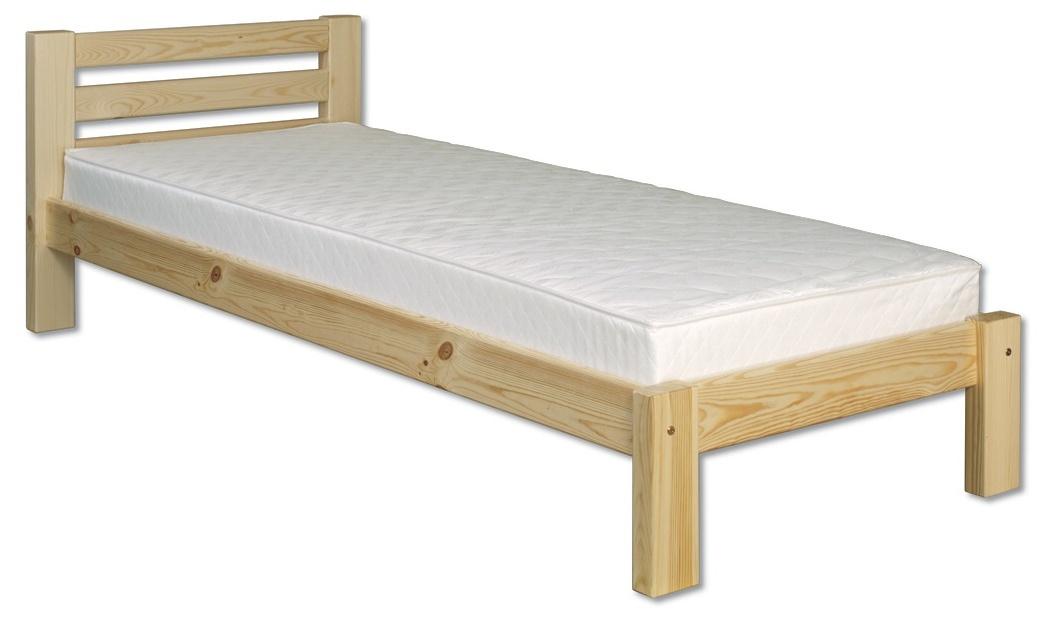 Jednolôžková posteľ 100 cm - Drewmax - LK 127 (masív). Sme autorizovaný predajca Drewmax. Vlastná spoľahlivá doprava až k Vám domov.