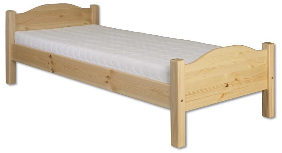 Jednolôžková posteľ 100 cm - Drewmax - LK 128 (masív). Sme autorizovaný predajca Drewmax. Vlastná spoľahlivá doprava až k Vám domov.