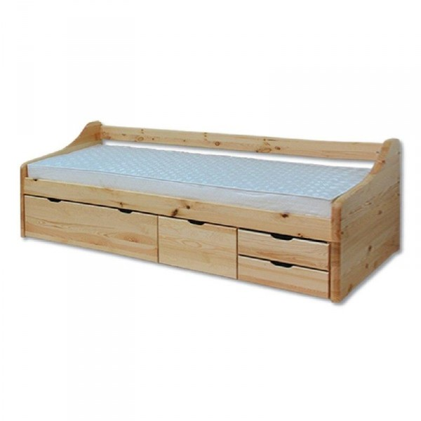 Jednolôžková posteľ 90 cm - Drewmax - LK 131 (masív)