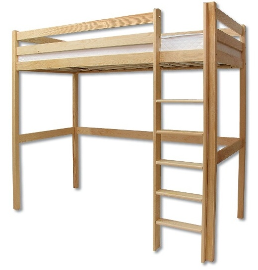Poschodová posteľ 90 cm - Drewmax - LK 135 (masív)