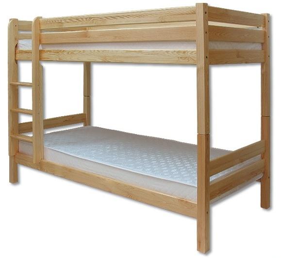 Poschodová posteľ 90 cm - Drewmax - LK 136 (masív)