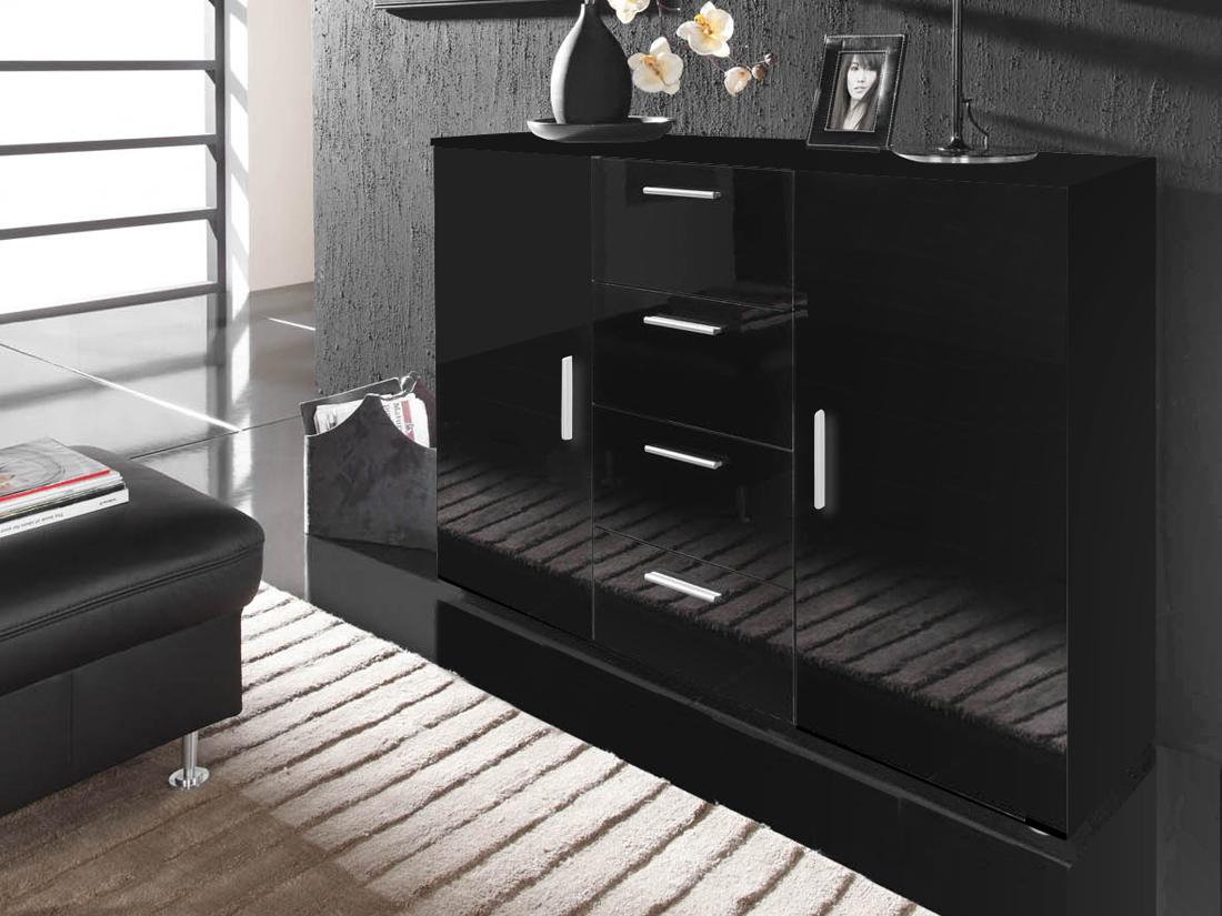 Komoda - Famm - Uni čierna + čierna
