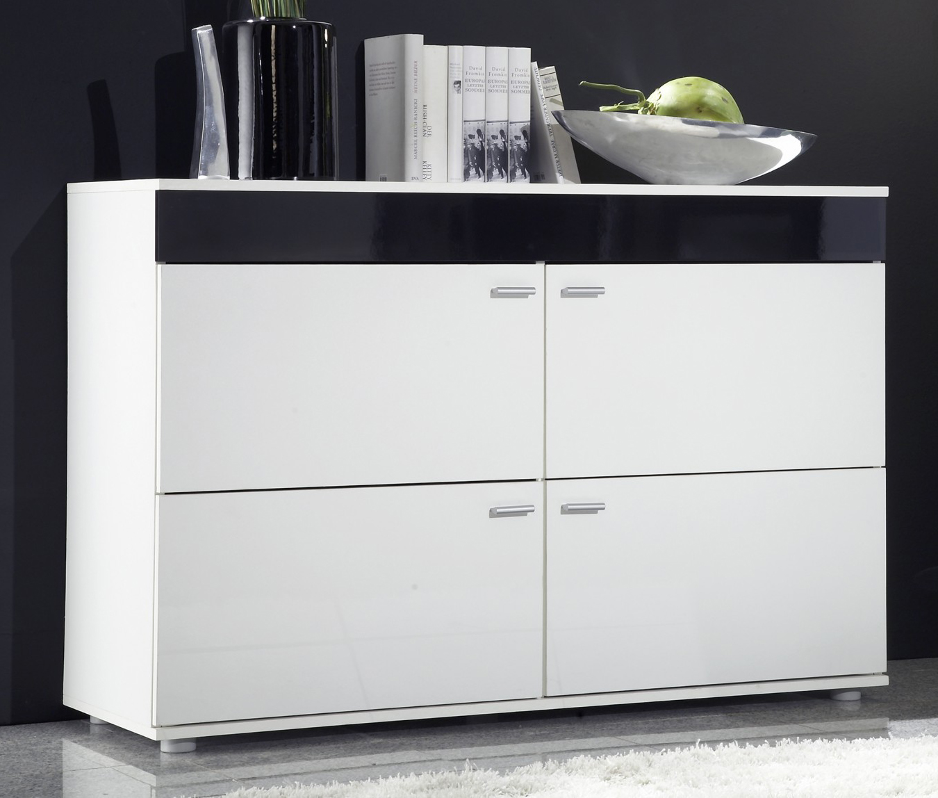 Skrinka - Famm - Logo II biela + čierna