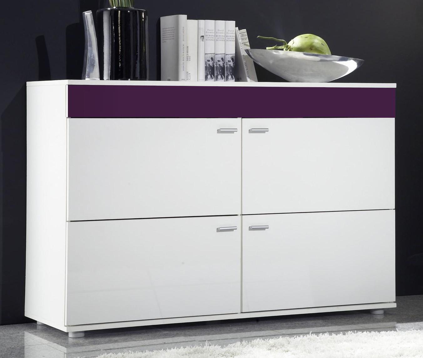 Skrinka - Famm - Logo II biela + fialová