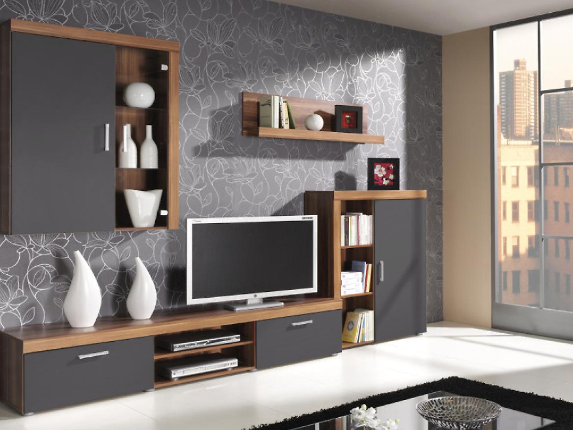 Obývacia stena - Famm - Zumba I (slivka + grafit). Akcia -17%. Sme autorizovaný predajca Famm. Vlastná spoľahlivá doprava až k Vám domov.