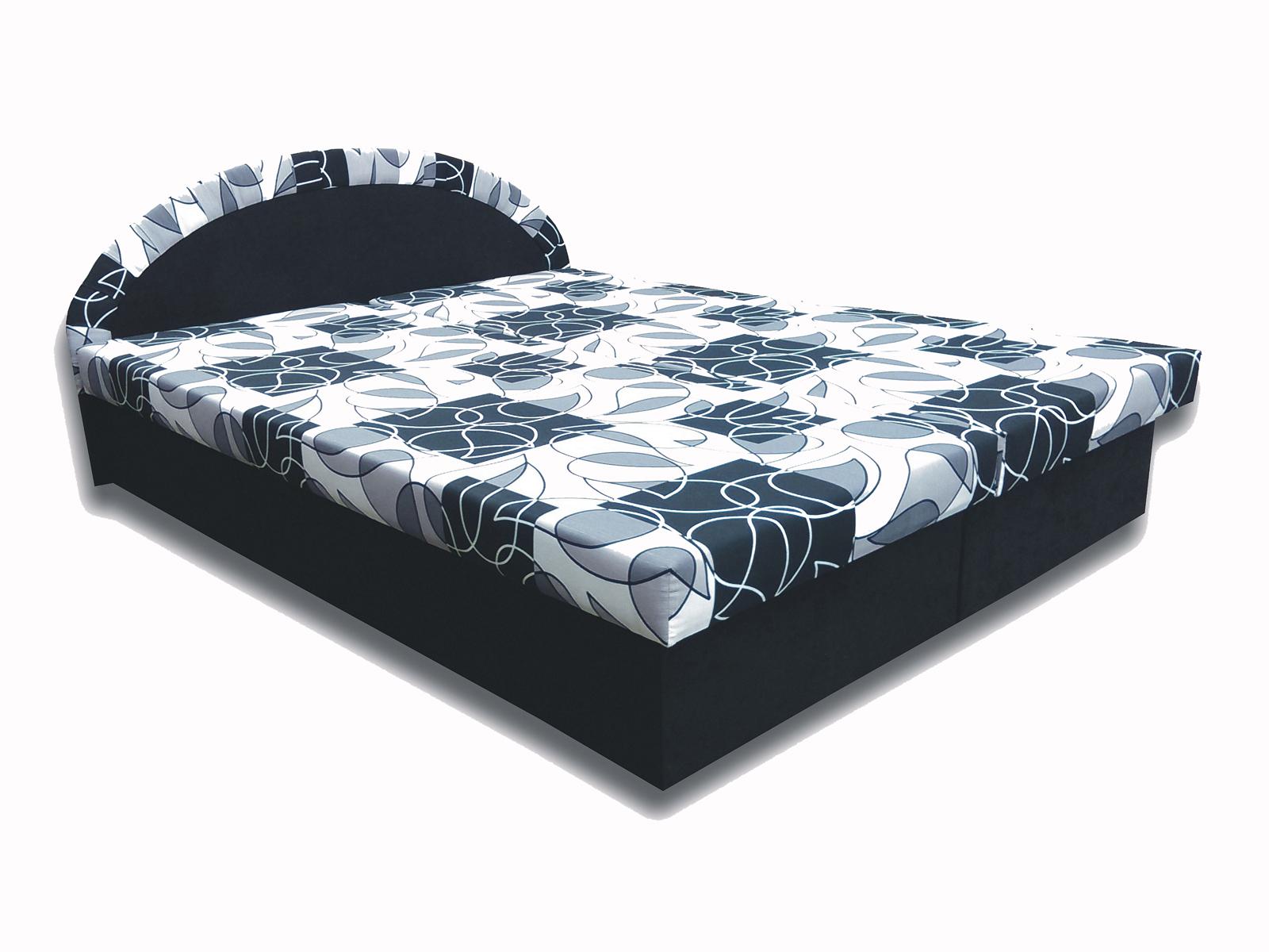 Manželská posteľ 160 cm - Famm - Elena (čierna) (s matracom). Akcia -18%. Sme autorizovaný predajca Famm. Vlastná spoľahlivá doprava až k Vám domov.