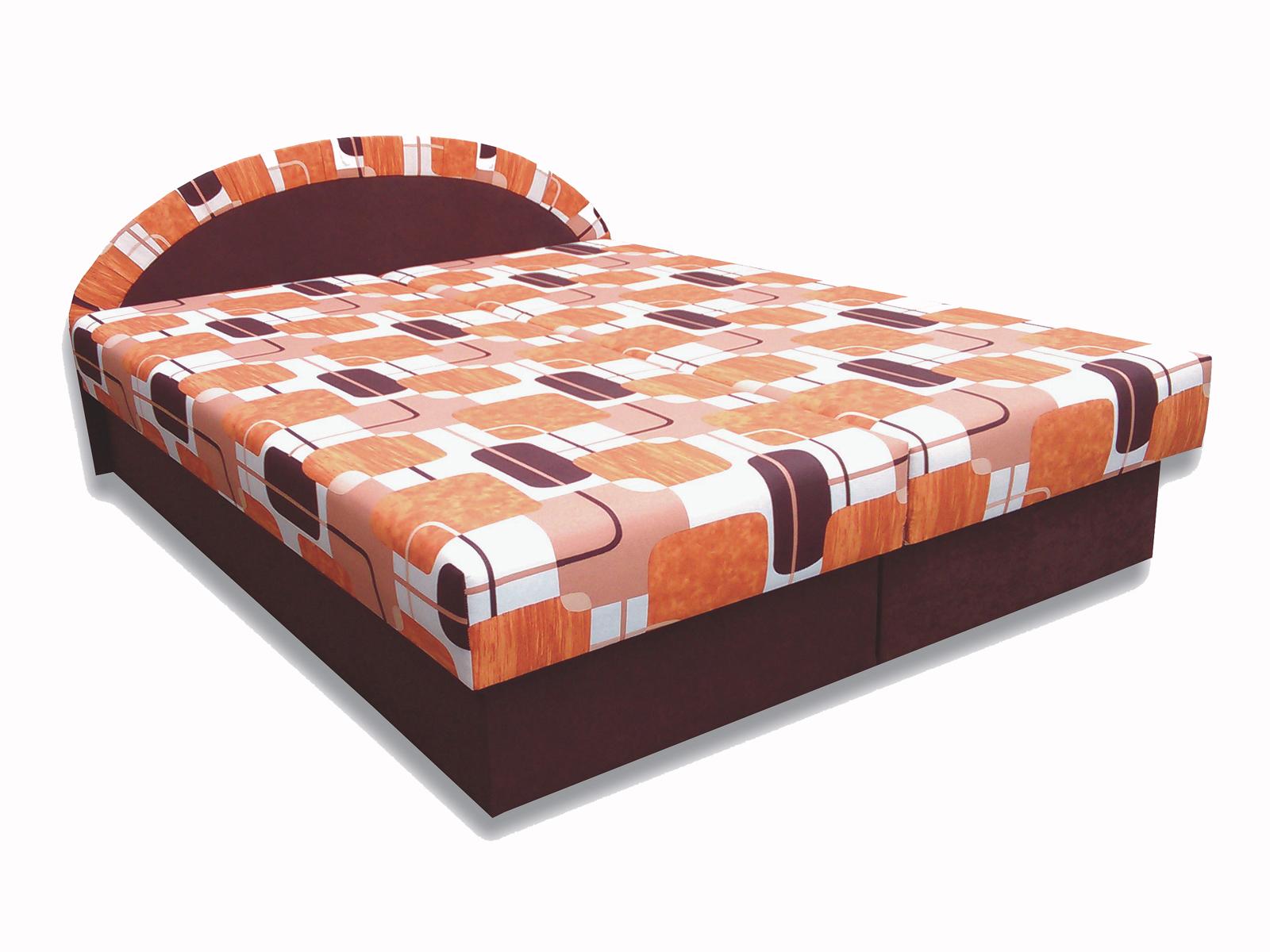 Manželská posteľ 160 cm - Famm - Elena (hnedá) (s matracom). Akcia -18%. Sme autorizovaný predajca Famm. Vlastná spoľahlivá doprava až k Vám domov.
