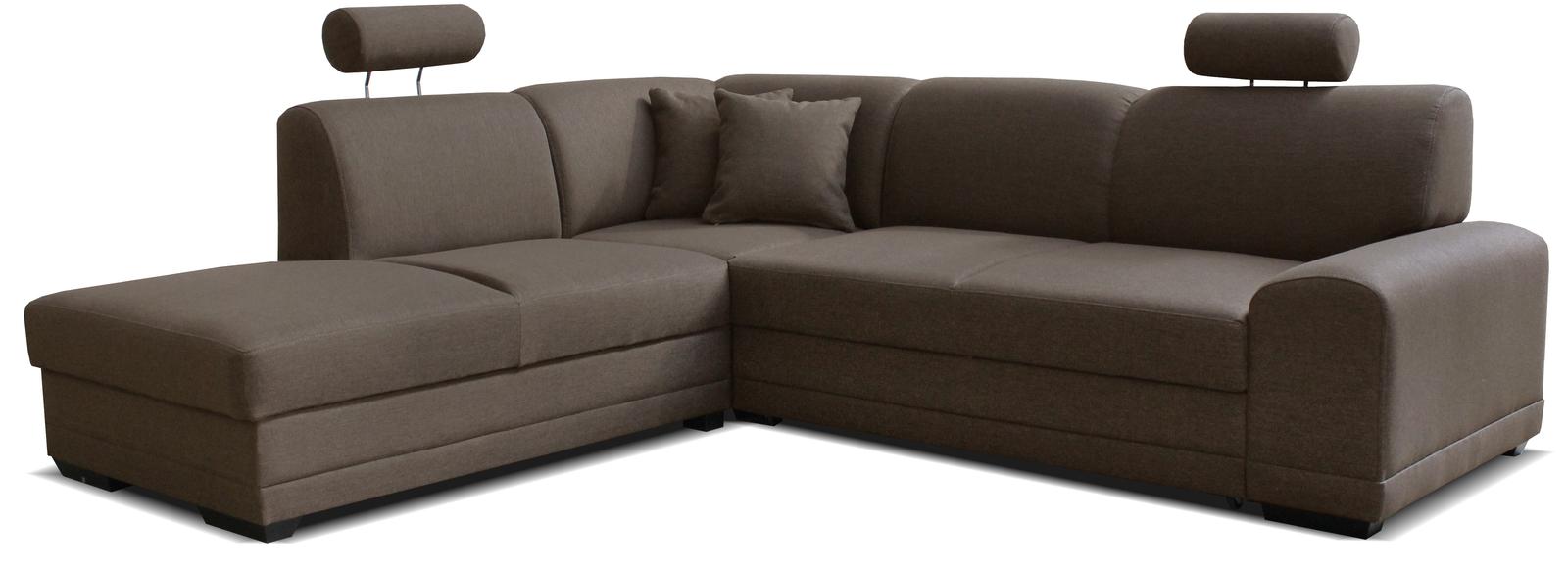 Rohová sedačka - Famm - Laon II L+2F (L) hnedá