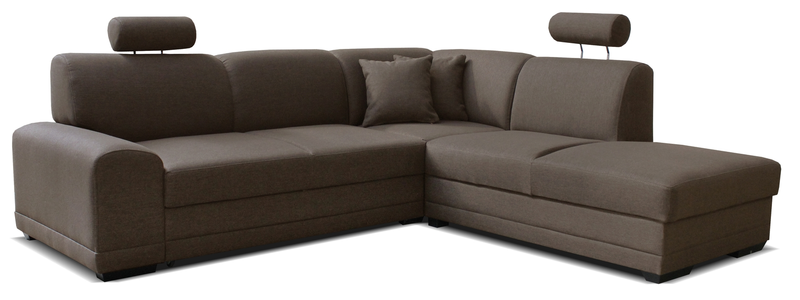 Rohová sedačka - Famm - Laon II 2F+L (P) hnedá