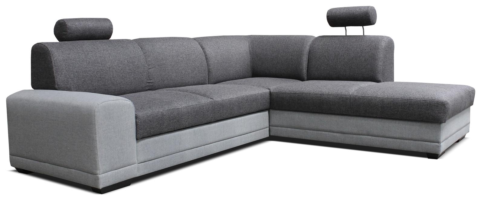 Rohová sedačka - Famm - Laon II 2F+L (P) svetlo/tmavosivá