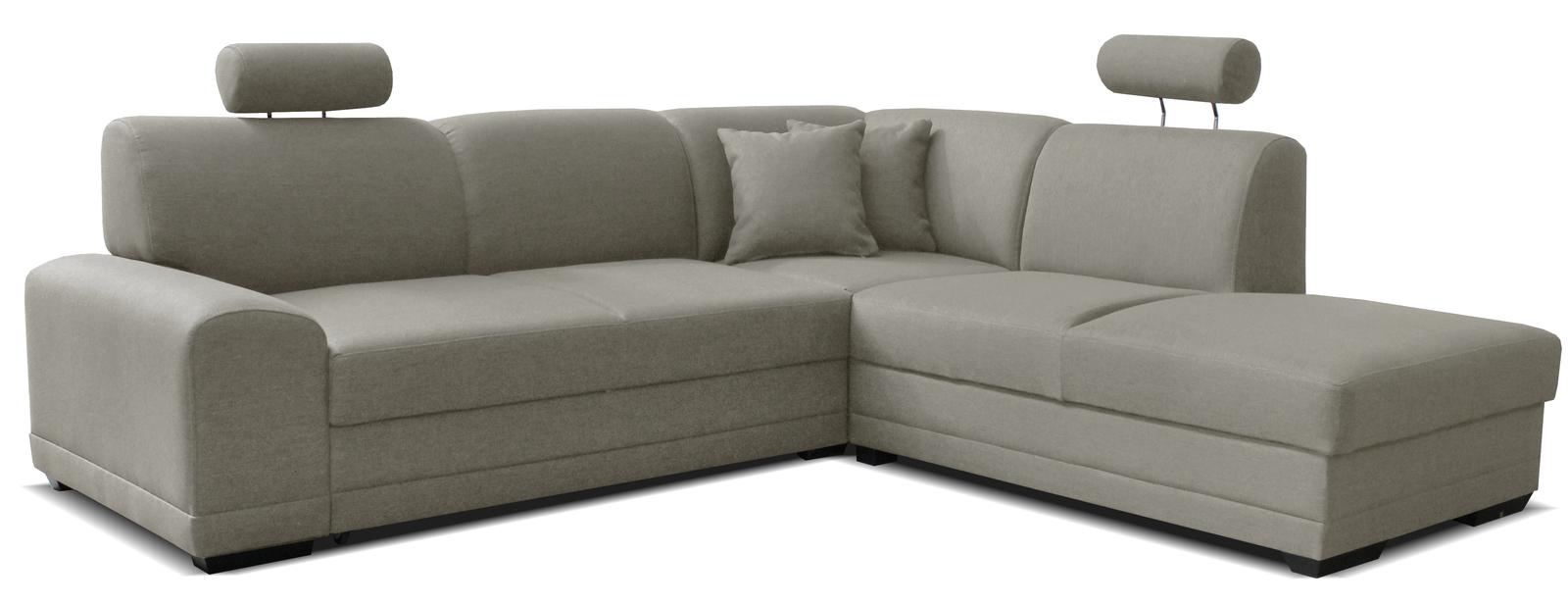Rohová sedačka - Famm - Laon II 2F+L (P) svetlosivá