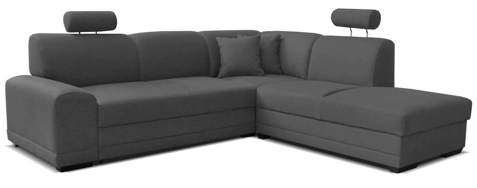 Rohová sedačka - Famm - Laon II 2F+L (P) tmavosivá