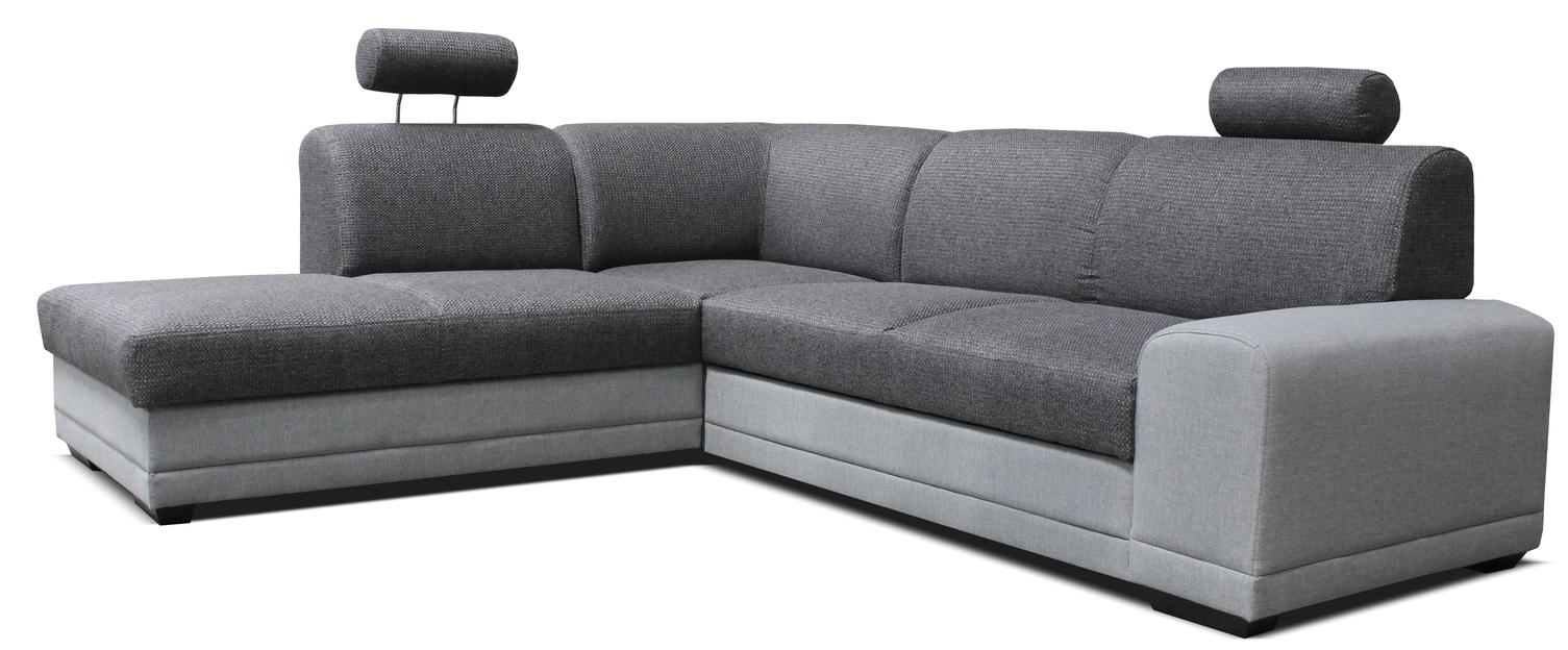 Rohová sedačka - Famm - Laon II L+2F (L) svetlo/tmavosivá
