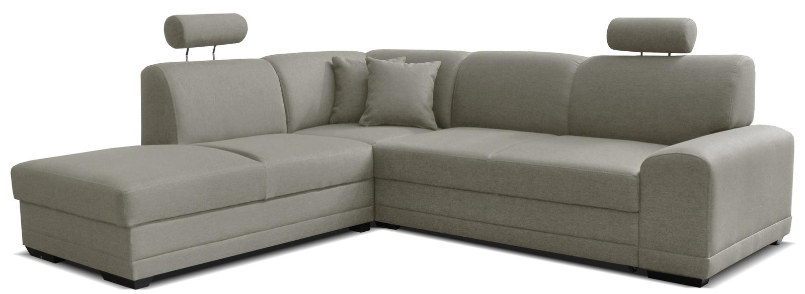 Rohová sedačka - Famm - Laon II L+2F (L) svetlosivá