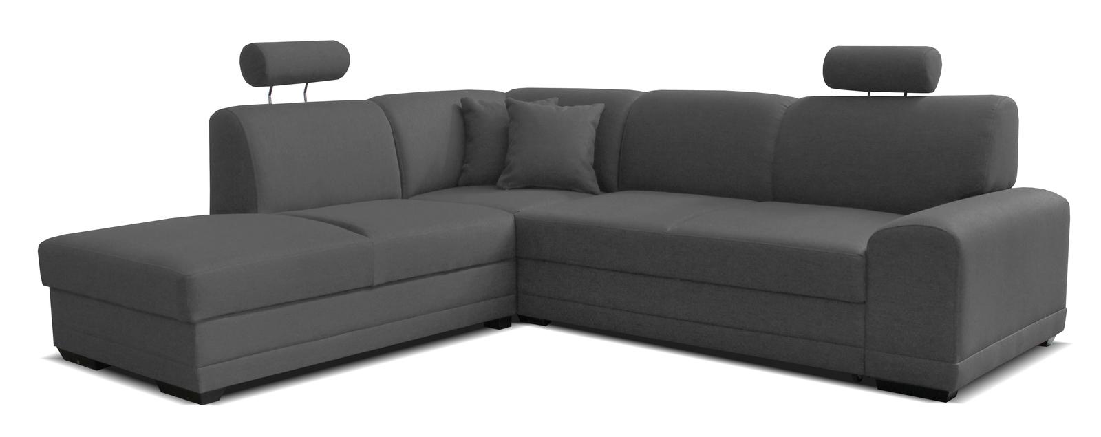 Rohová sedačka - Famm - Laon II L+2F (L) tmavosivá