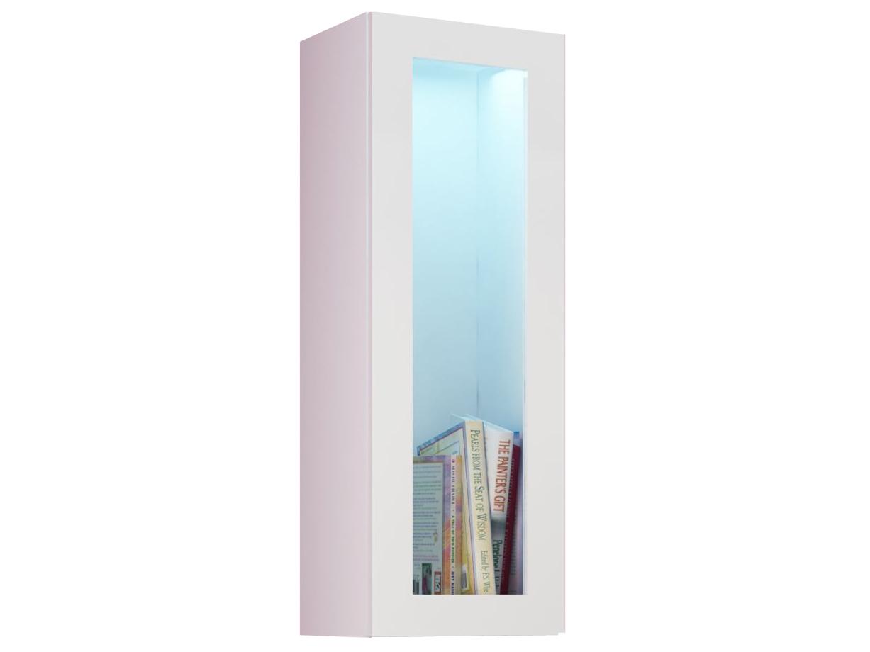 Vitrína na stenu - Famm - Vigo 90 LED biela (s osvetlením)