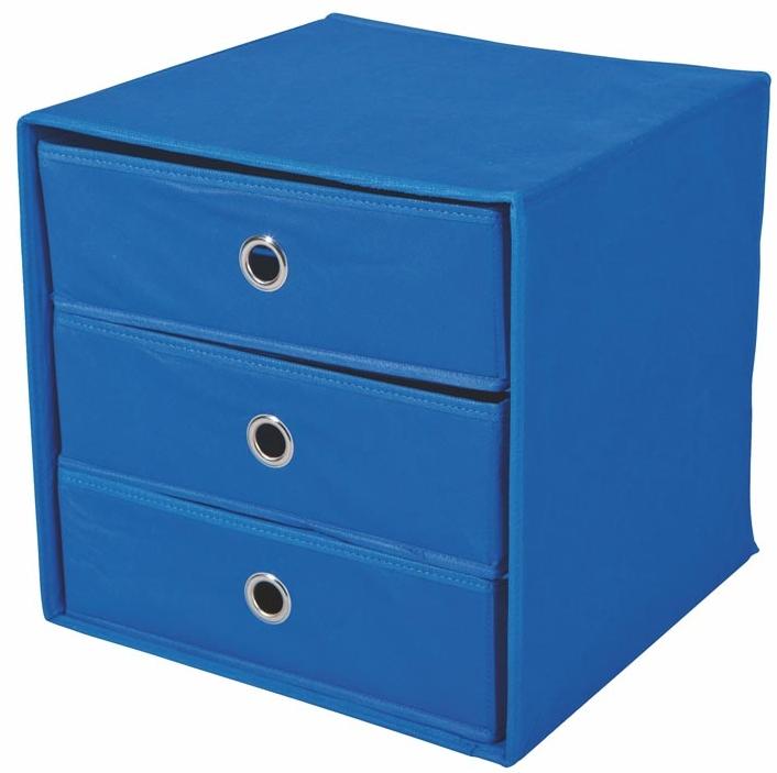 Zásuvka do regálu - Halmar - Willy modrá