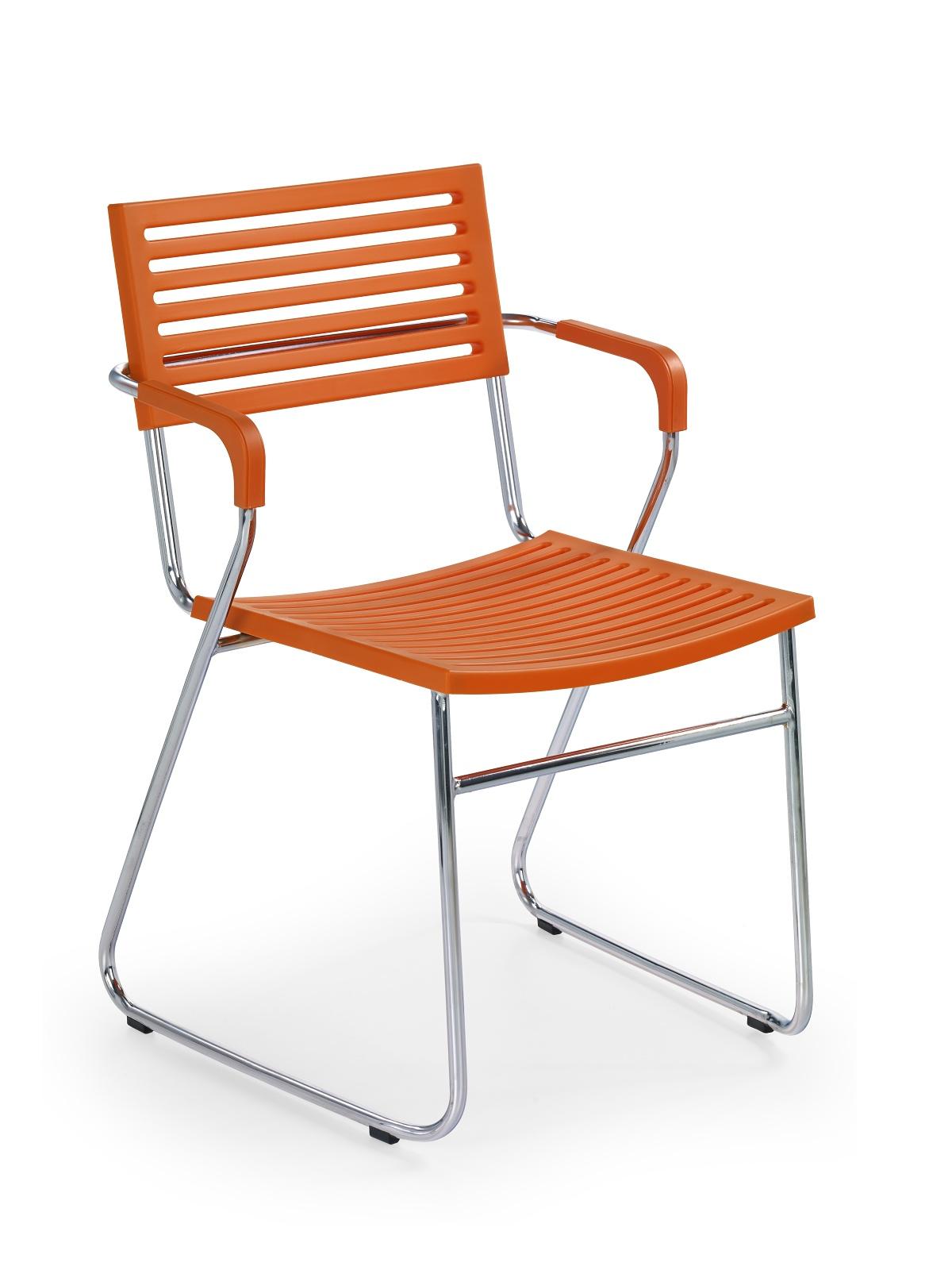 Jedálenská stolička - Halmar - K156 pomarančová