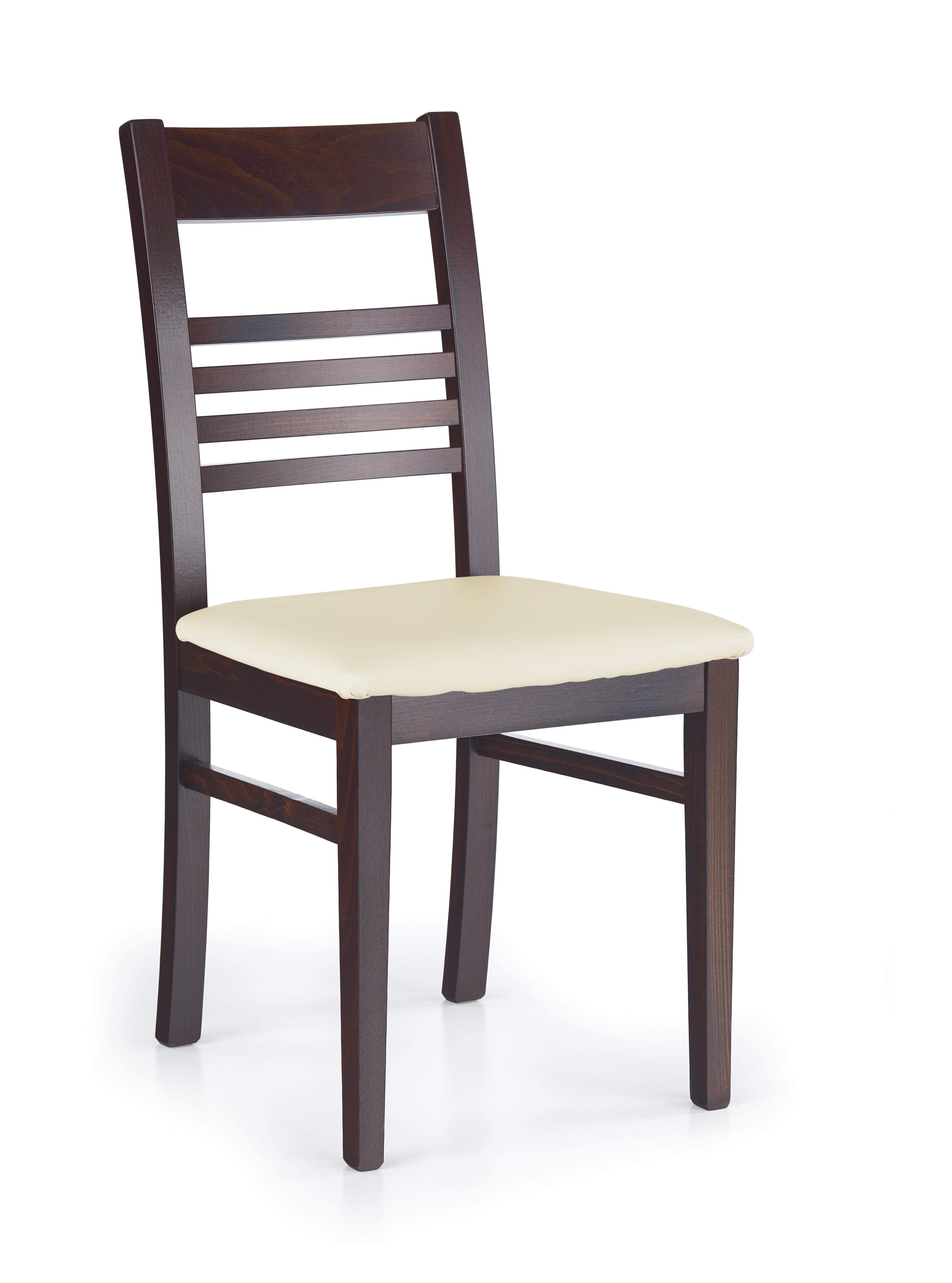 Jedálenská stolička - Halmar - JULIUSZ Orech tmavý + Madryt 111