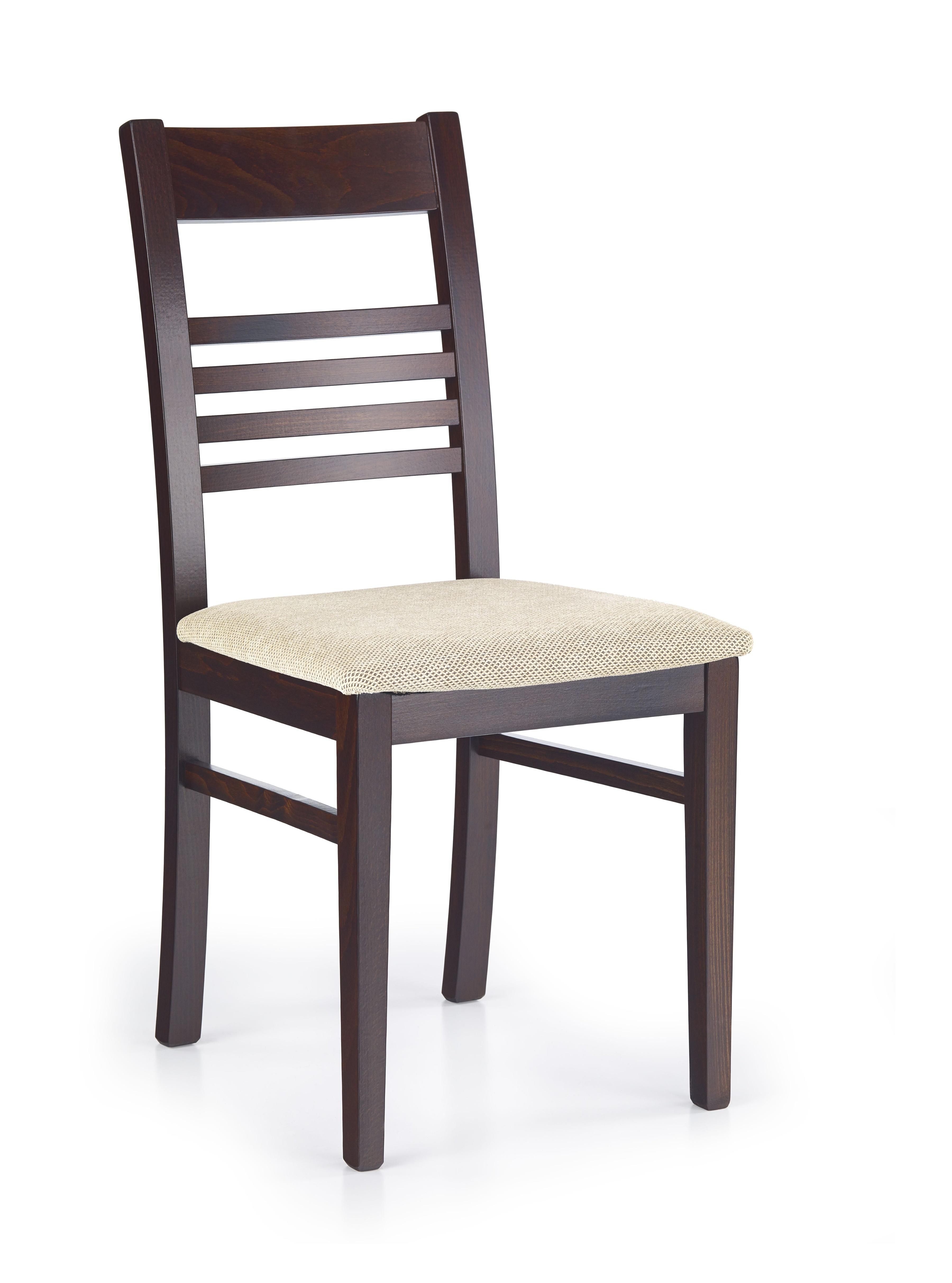 Jedálenská stolička - Halmar - JULIUSZ Orech tmavý + Torent beige