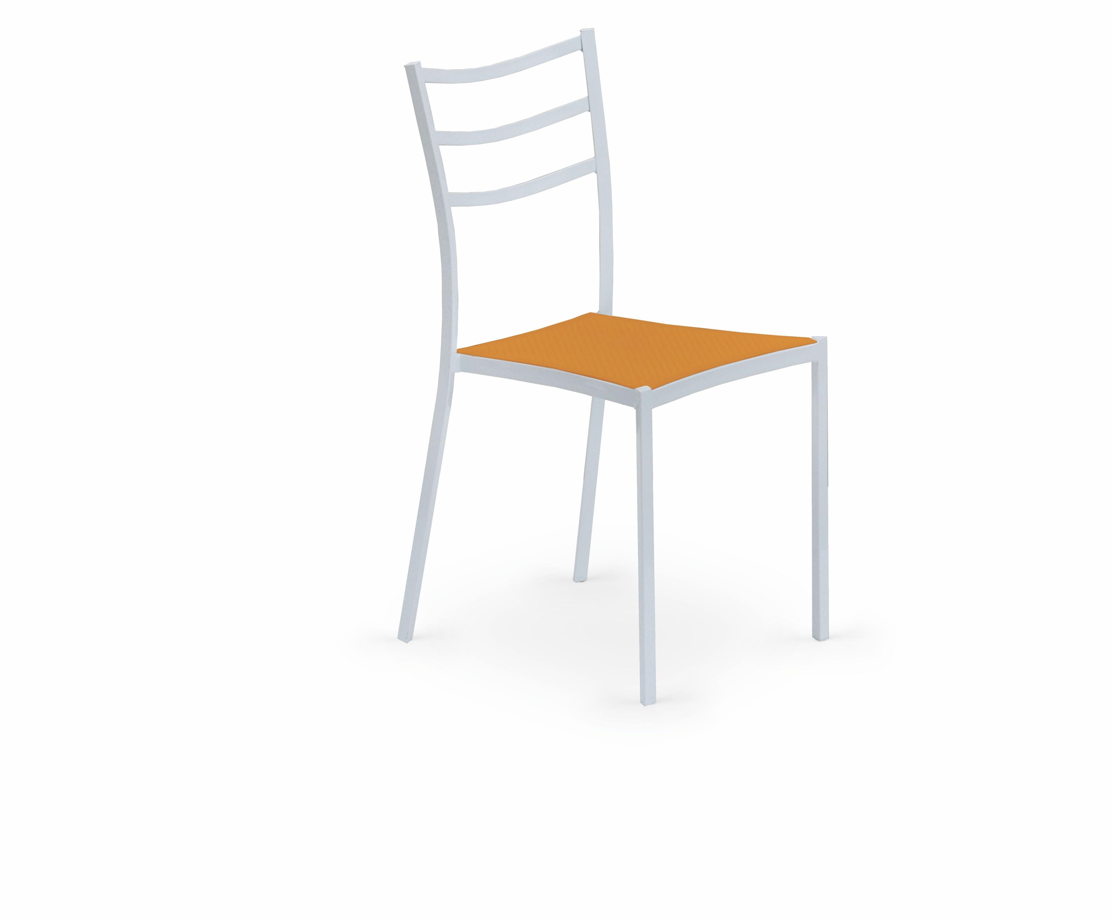 Jedálenská stolička - Halmar - K 159 biela + pomarančová