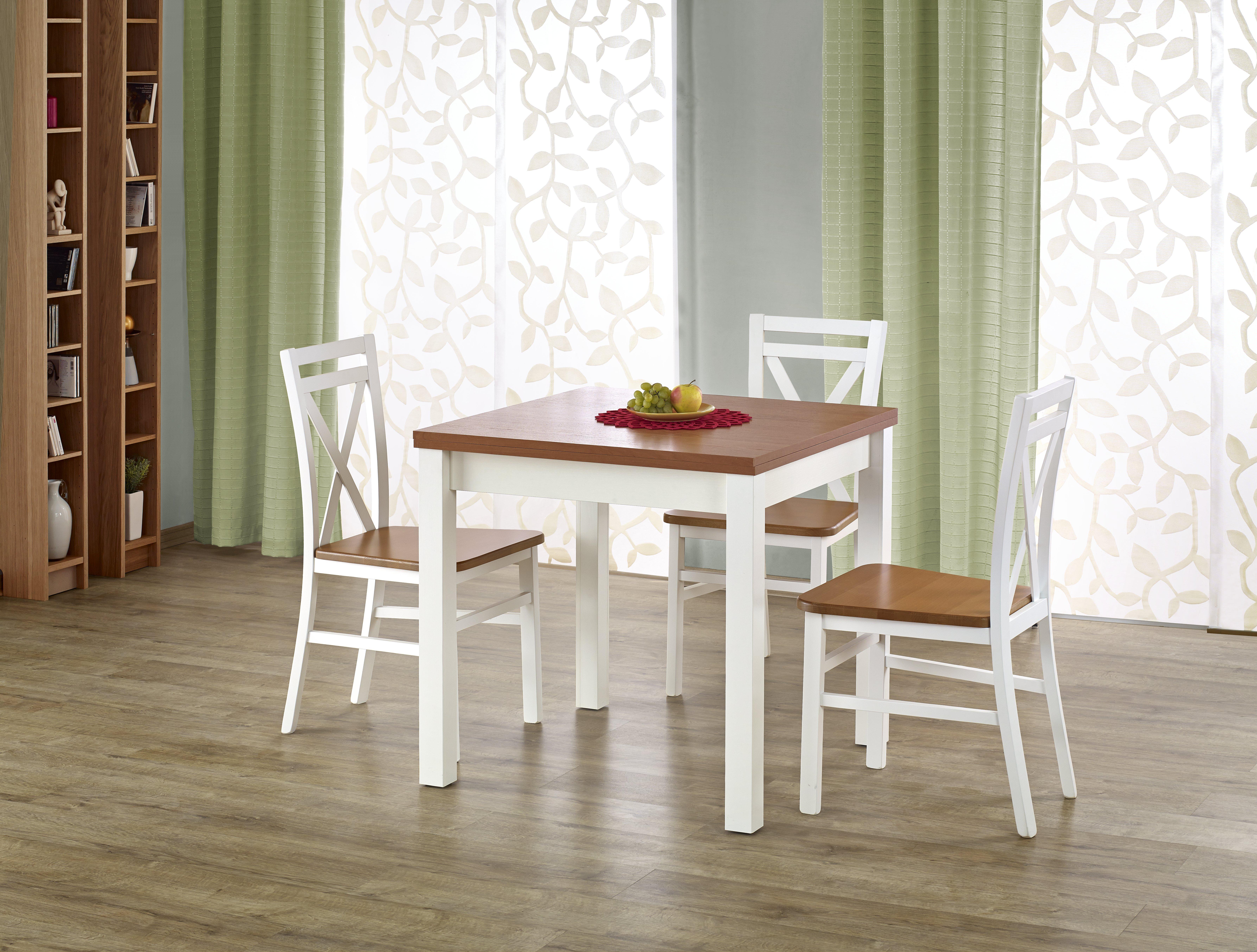 Jedálenský stôl - Halmar - Gracjan (jelša + biela) (pre 4 až 6 osôb). Sme autorizovaný predajca Halmar. Vlastná spoľahlivá doprava až k Vám domov.