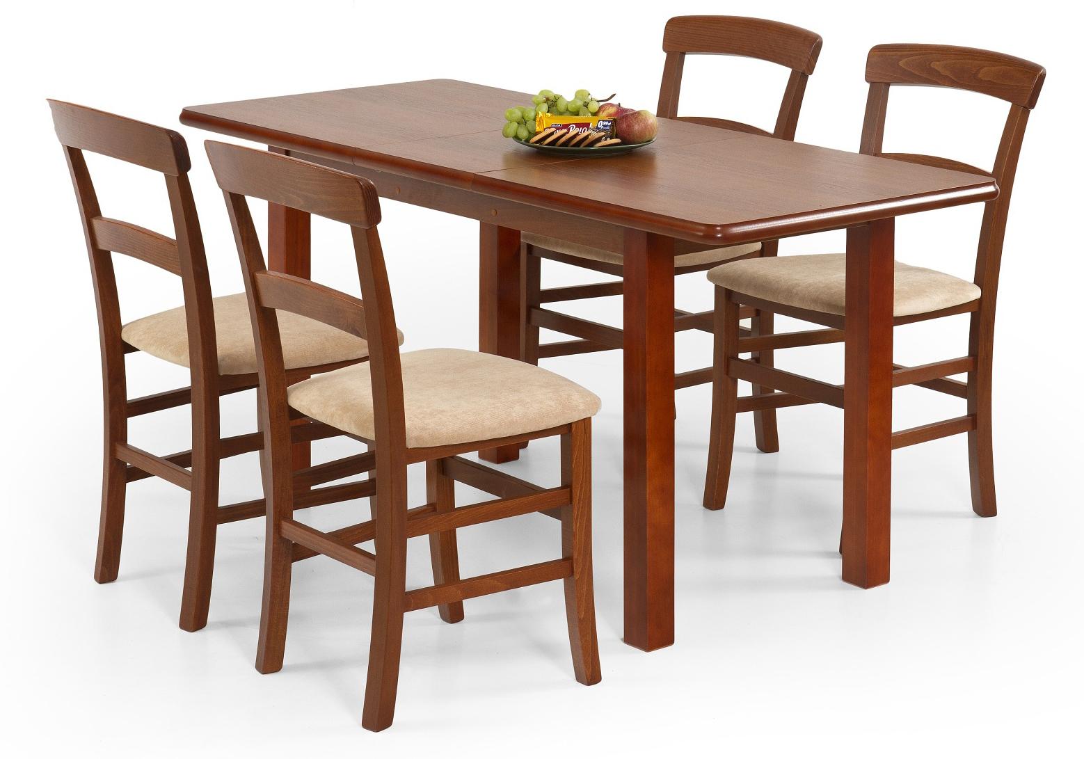 Jedálenský stôl - Halmar - Dinner 120/158 (pre 4 až 6 osôb). Sme autorizovaný predajca Halmar. Vlastná spoľahlivá doprava až k Vám domov.