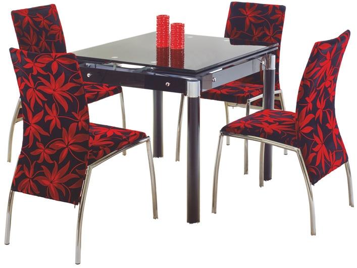 Jedálenský stôl - Halmar - Kent čierna (pre 4 osoby). Akcia -7%. Sme autorizovaný predajca Halmar. Vlastná spoľahlivá doprava až k Vám domov.
