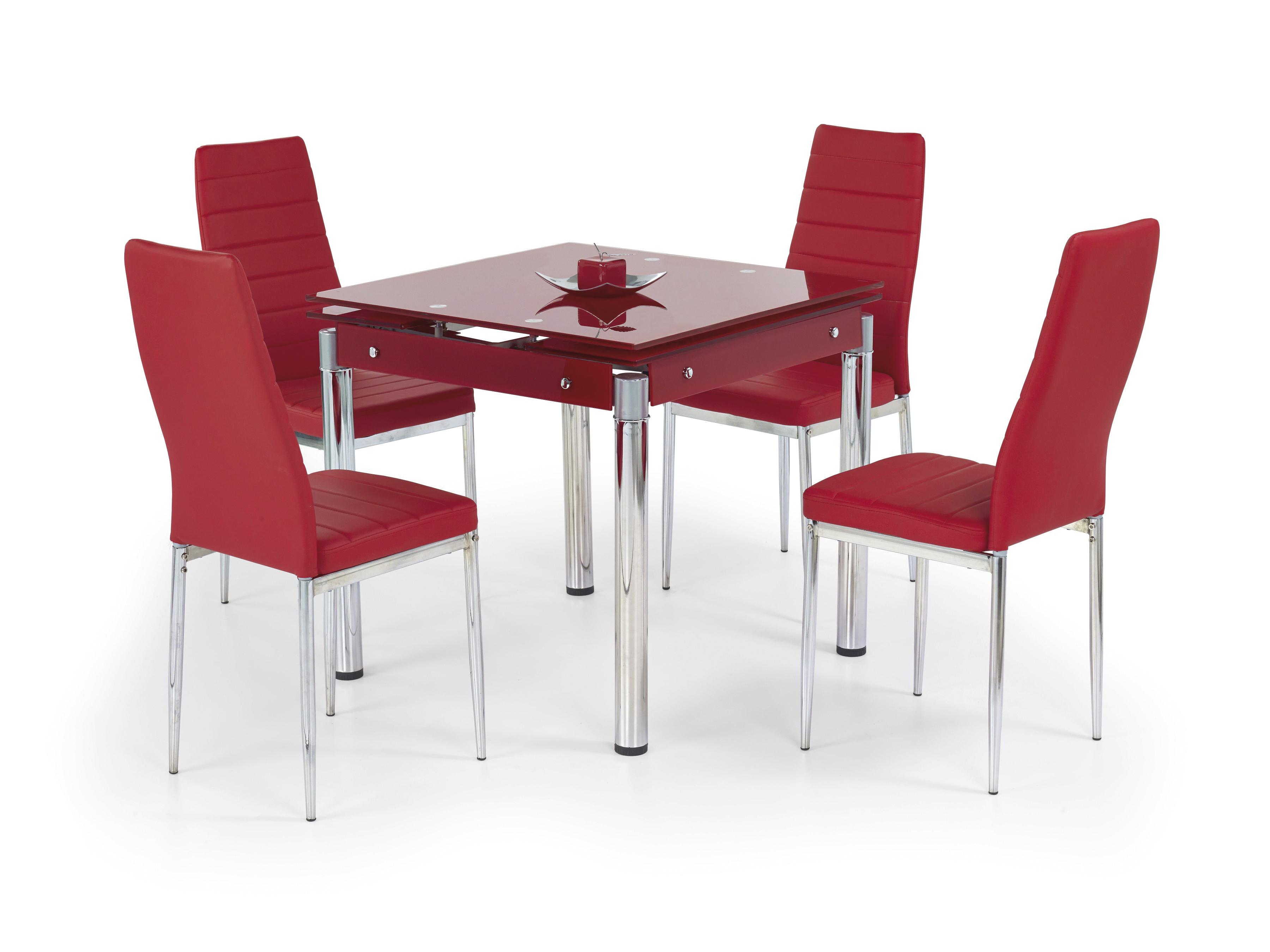 Jedálenský stôl - Halmar - Kent červená (pre 4 osoby). Sme autorizovaný predajca Halmar. Vlastná spoľahlivá doprava až k Vám domov.