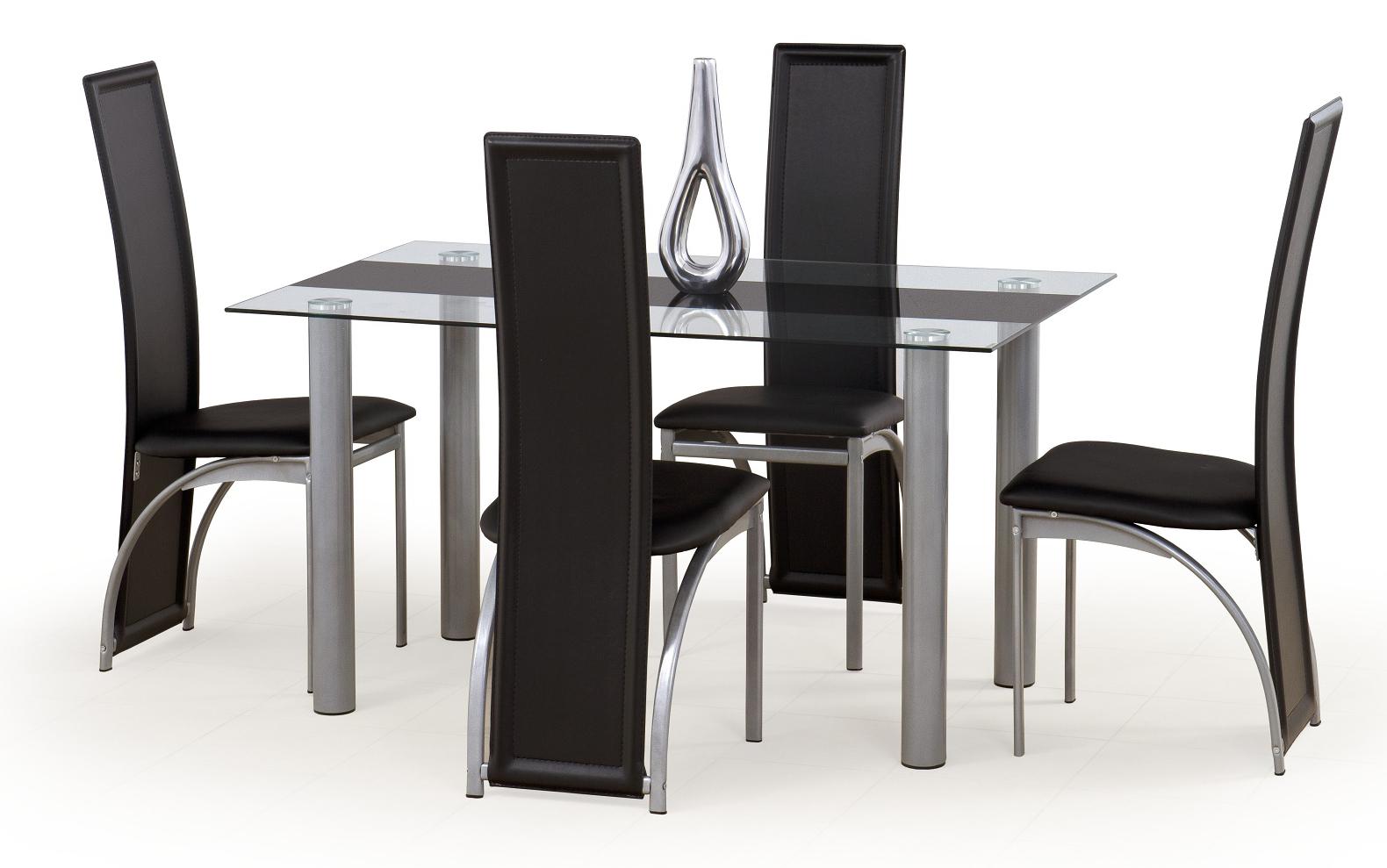 Jedálenský stôl - Halmar - Talon čierny pás (pre 6 osôb). Akcia -6%. Sme autorizovaný predajca Halmar. Vlastná spoľahlivá doprava až k Vám domov.