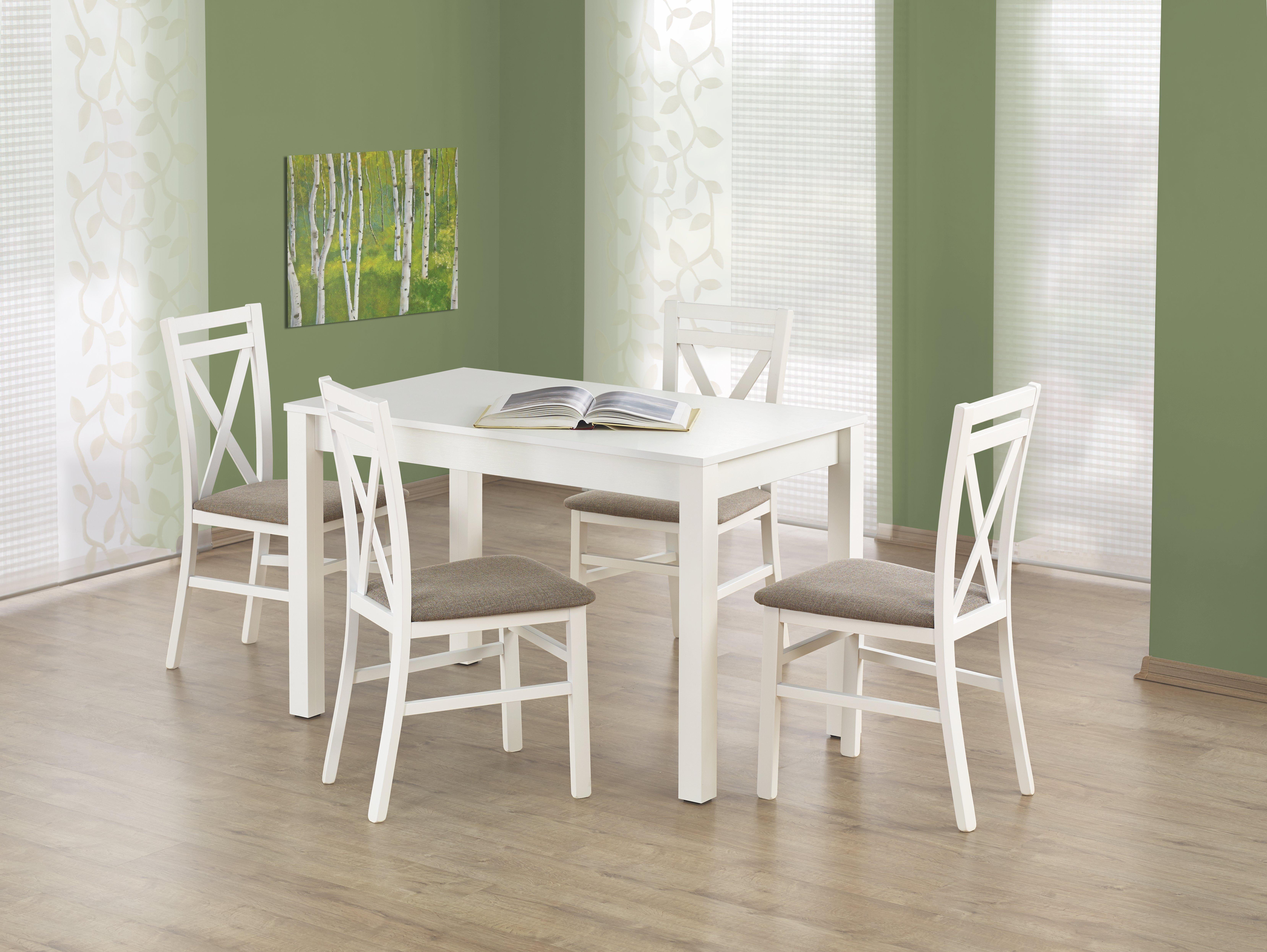 Jedálenský stôl - Halmar - Ksawery (biela) (pre 4 osoby). Sme autorizovaný predajca Halmar. Vlastná spoľahlivá doprava až k Vám domov.