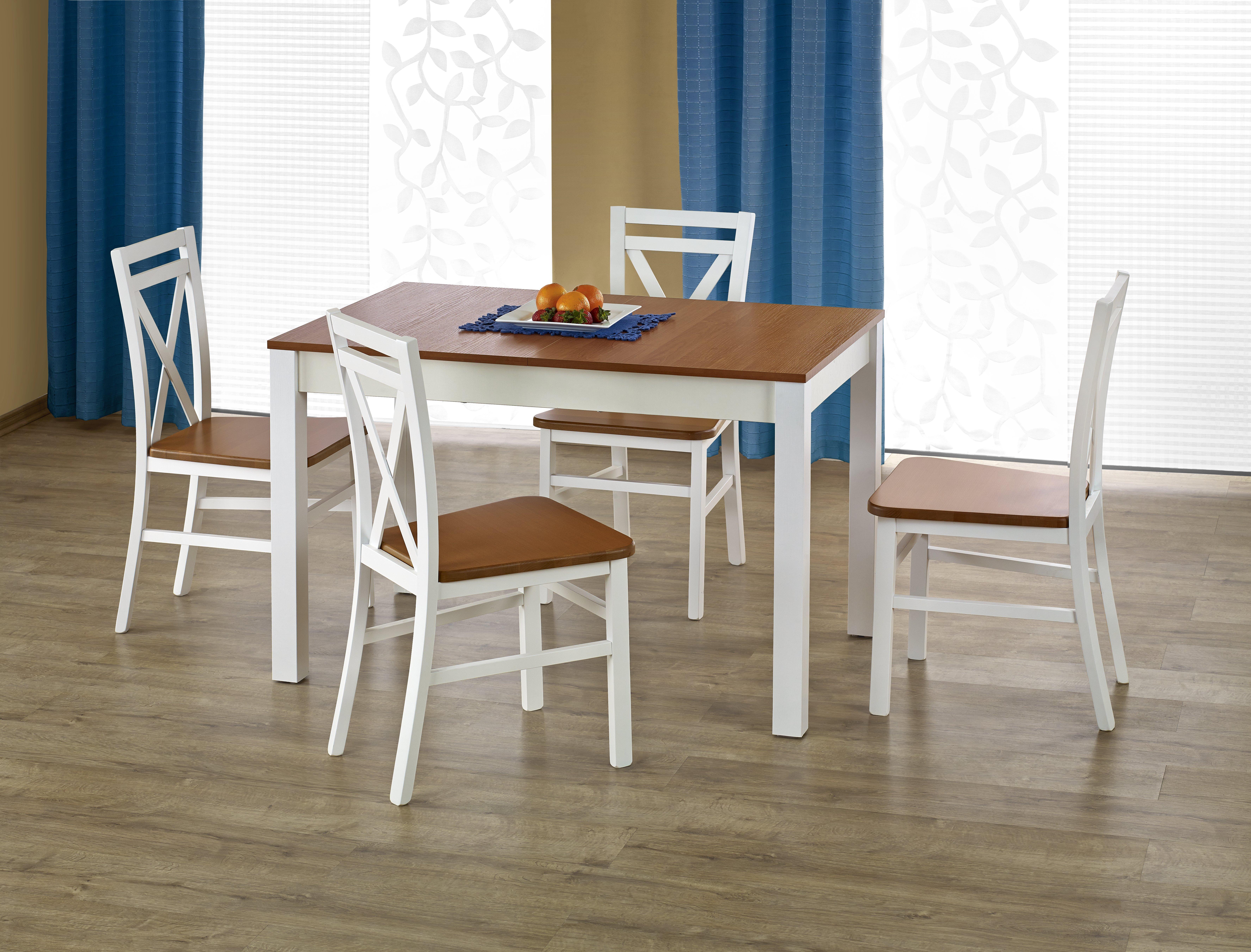 Jedálenský stôl - Halmar - Ksawery (jelša + biela) (pre 4 osoby). Sme autorizovaný predajca Halmar. Vlastná spoľahlivá doprava až k Vám domov.