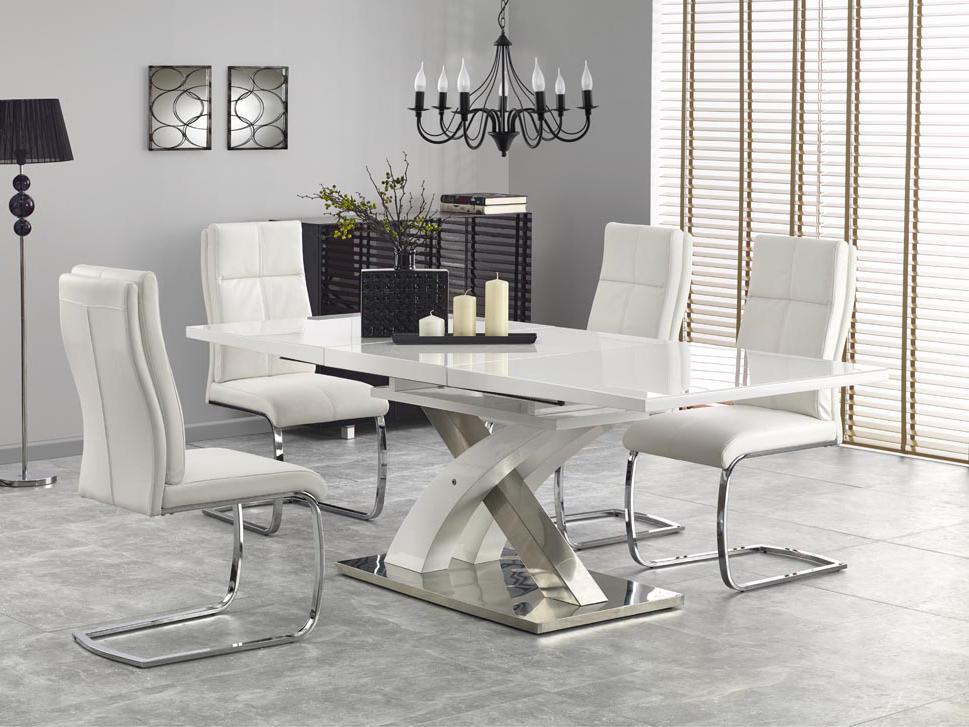 Jedálenský stôl - Halmar - Sandor 2 (biela) (pre 6 až 8 osôb). Akcia -6%. Doprava ZDARMA. Sme autorizovaný predajca Halmar. Vlastná spoľahlivá doprava až k Vám domov.