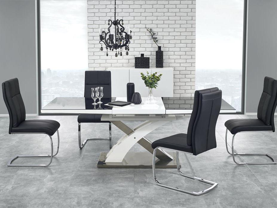 Jedálenský stôl - Halmar - Sandor 2 (čierna + biela) (pre 6 až 8 osôb). Akcia -7%. Doprava ZDARMA. Sme autorizovaný predajca Halmar. Vlastná spoľahlivá doprava až k Vám domov.