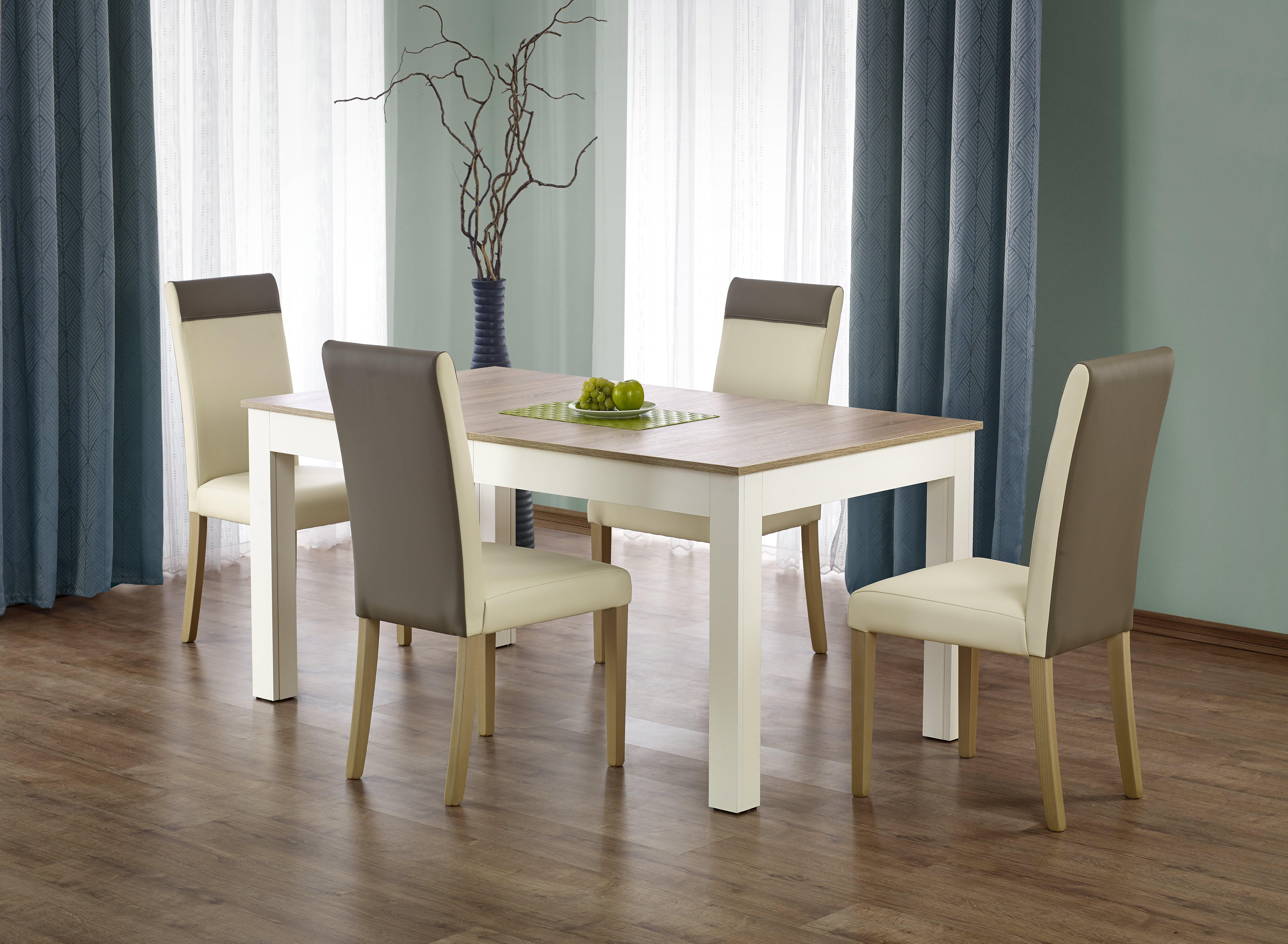 839586d356c27 Jedálenský stôl Seweryn (dub sonoma + biela) (pre 6 až 12 osôb)
