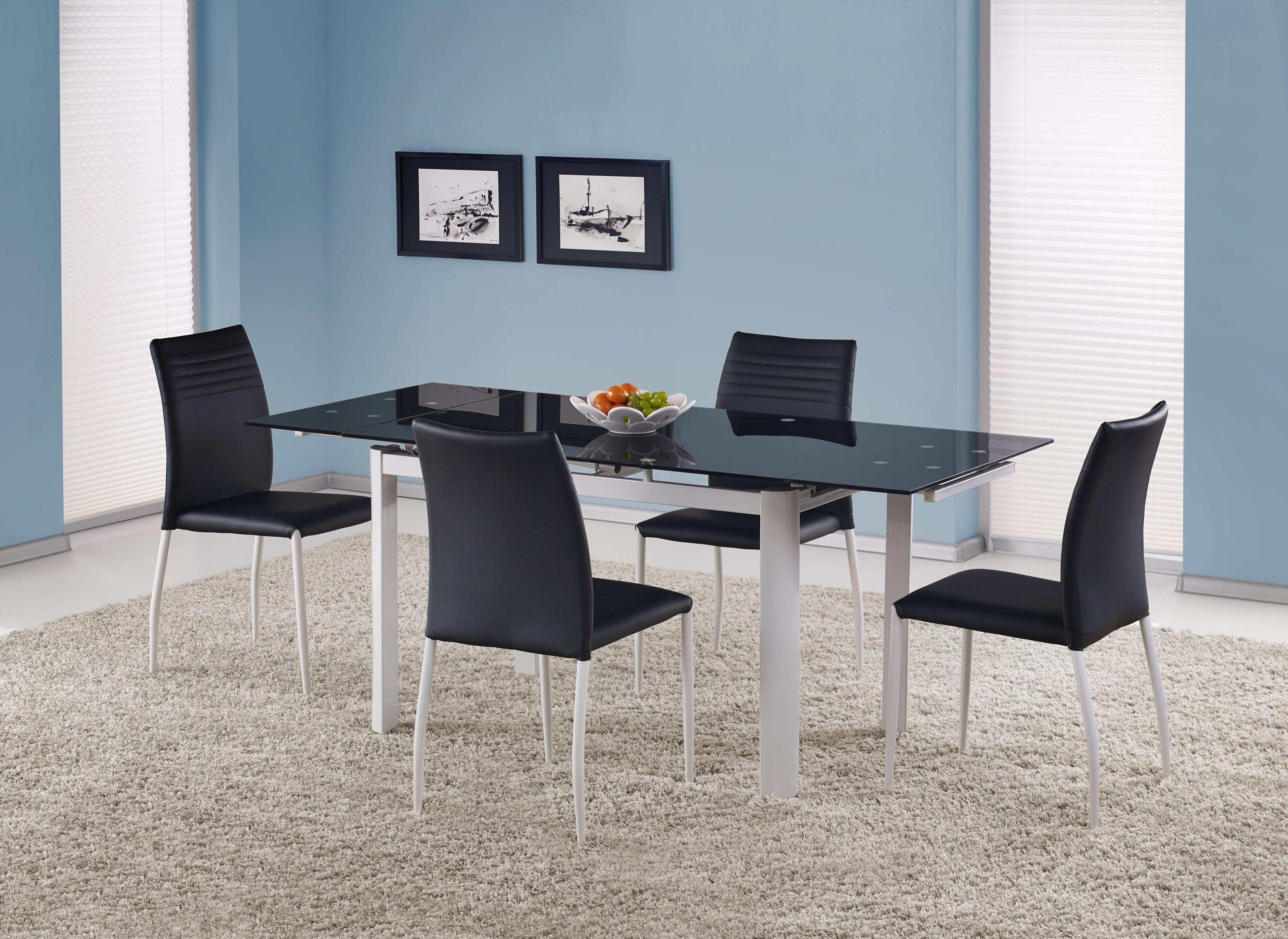 Jedálenský stôl - Halmar - ALSTON čierna (pre 4 až 8 osôb). Akcia -6%. Sme autorizovaný predajca Halmar. Vlastná spoľahlivá doprava až k Vám domov.