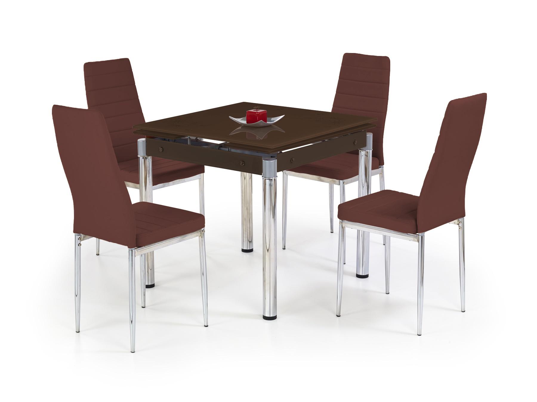 Jedálenský stôl - Halmar - Kent hnedá (pre 4 osoby)