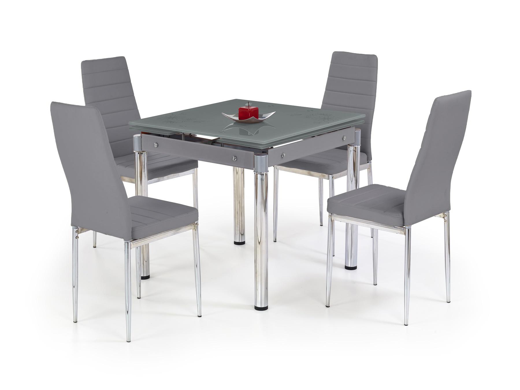 Jedálenský stôl - Halmar - Kent šedá (pre 4 osoby)