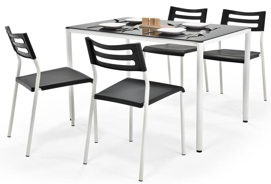 Jedálenský set - Halmar - Figaro čierny (pre 4 osoby)