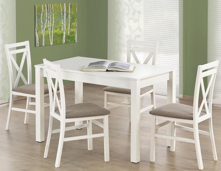 Jedálenský stôl - Halmar - Ksawery biely (pre 4 osoby)