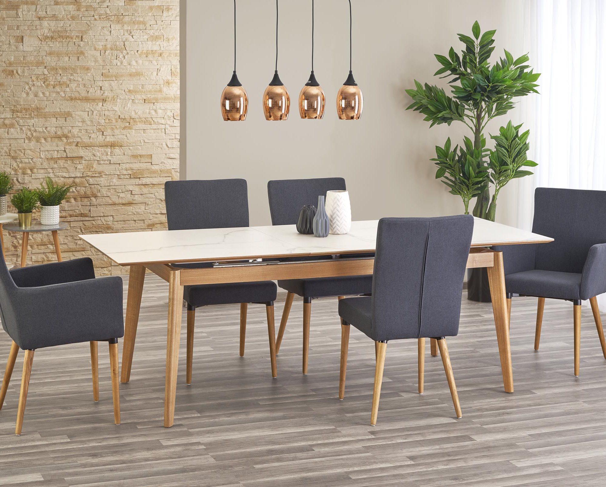 Jedálenský stôl - Halmar - Montreal (pre 6 až 8 osôb). Doprava ZDARMA. Sme autorizovaný predajca Halmar. Vlastná spoľahlivá doprava až k Vám domov.