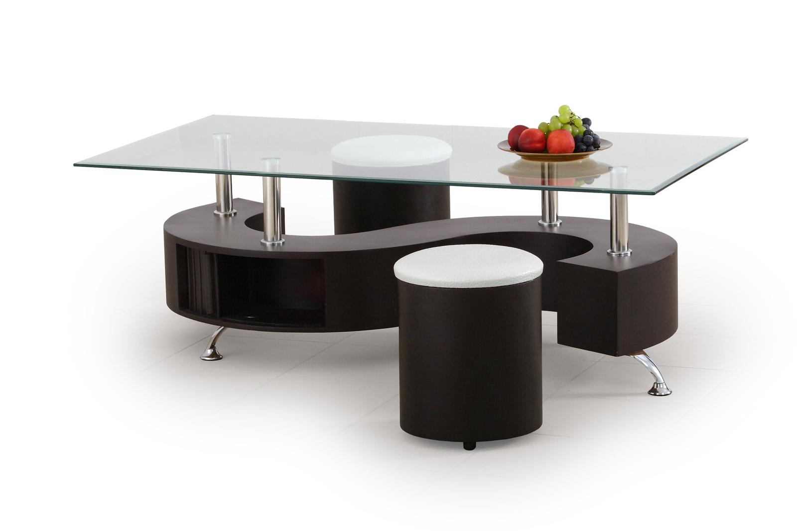 Konferenčný stolík - Halmar - Nina Wenge (s taburetkami)