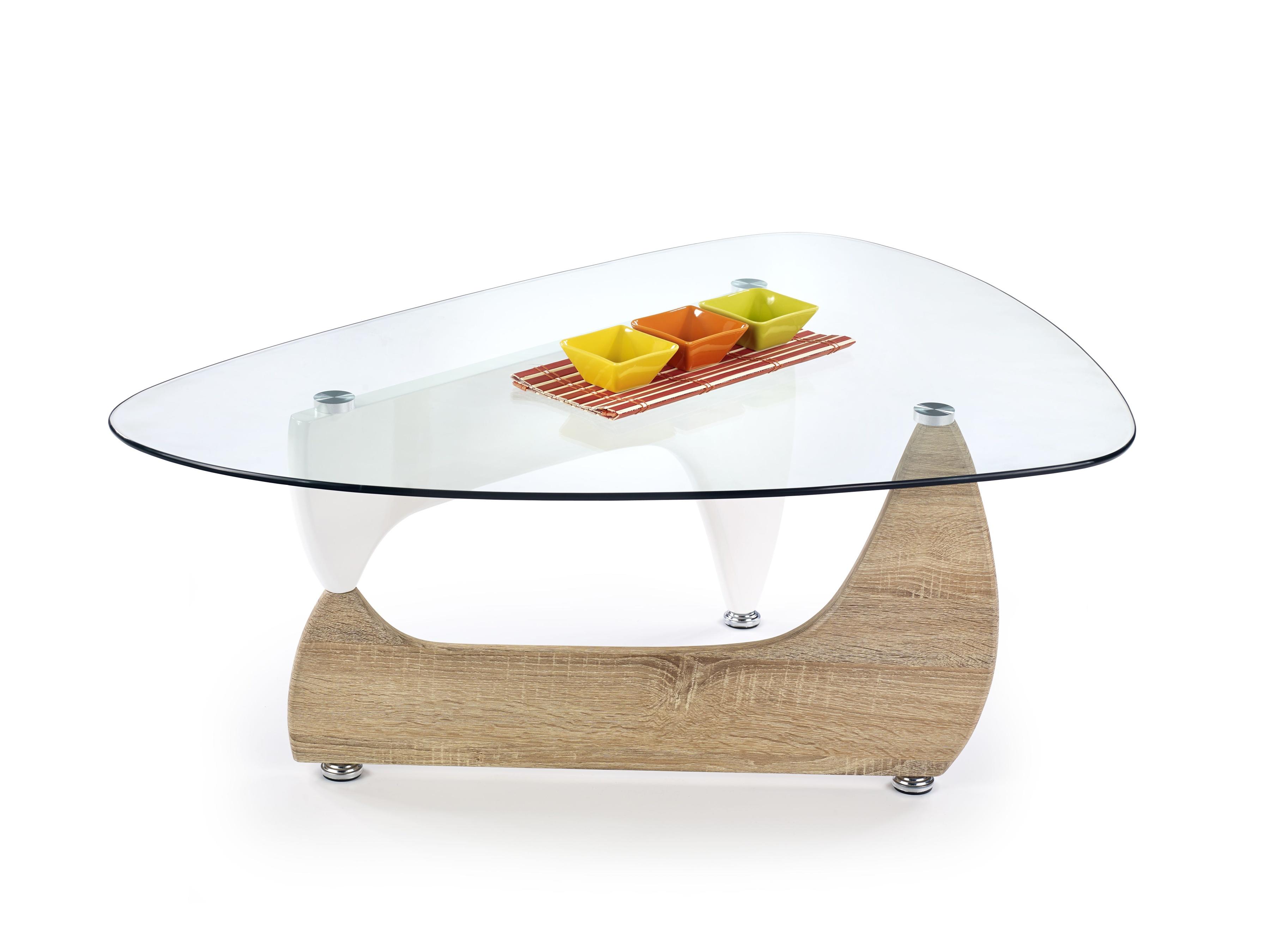 Konferenčný stolík - Halmar - Karen Dub Sonoma + biela