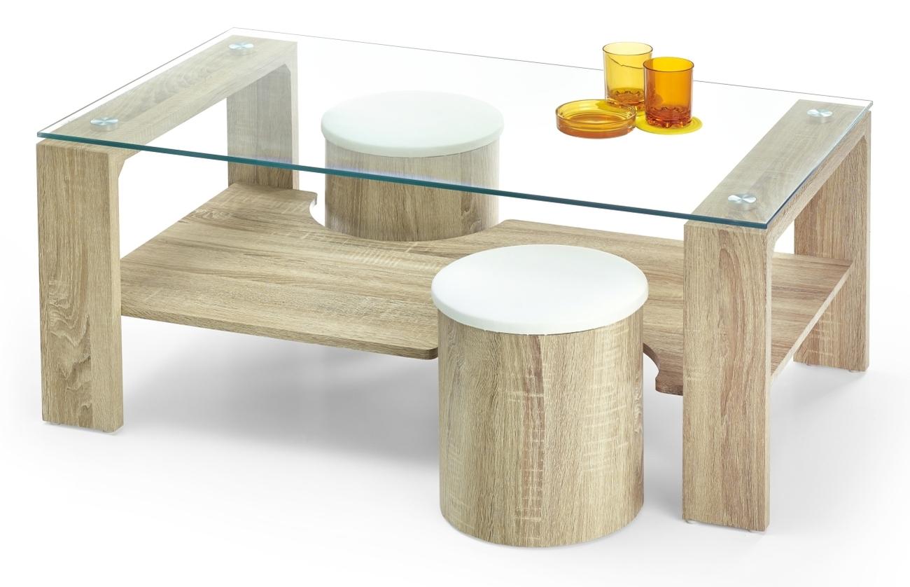 Konferenčný stolík - Halmar - Arwena (s taburetkami)