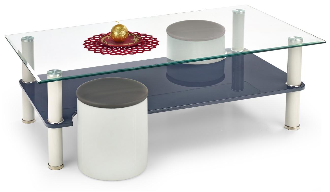 Konferenčný stolík - Halmar - Monica  (s taburetkami)