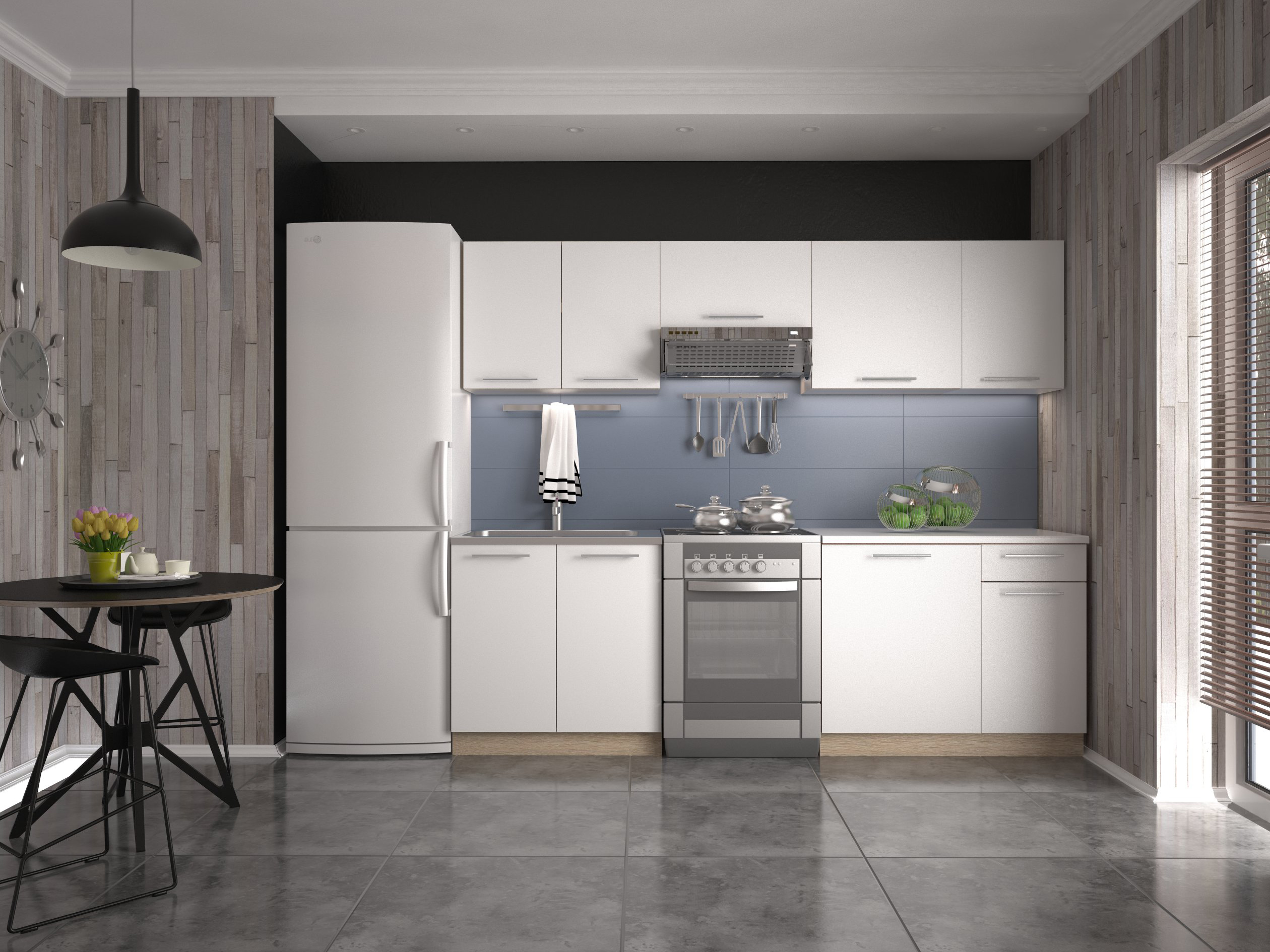 Kuchyňa Daria 240 cm  NovýNábytok sk -> Leroy Merlin Kuchnia Fiona Biala